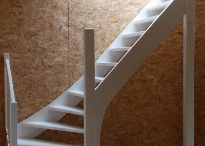 3 Trappen voor een woning in aanbouw te Amsterdam